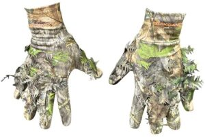 QuikCamo Mossy Oak Tactical Leafy Gloves